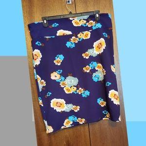 Purple floral skirt - lularoe cassie